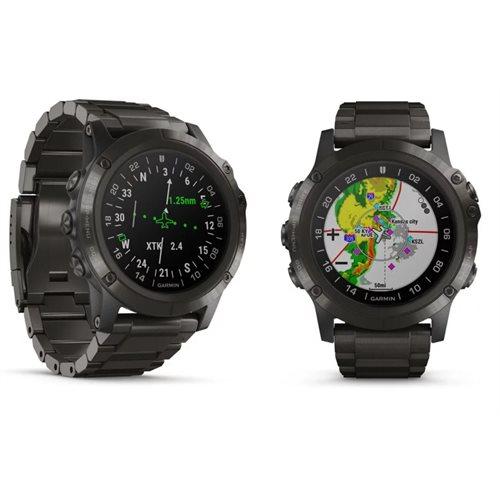 Montre de pilote GPS D2 Delta PX avec bracelet titanium DLC de Garmin