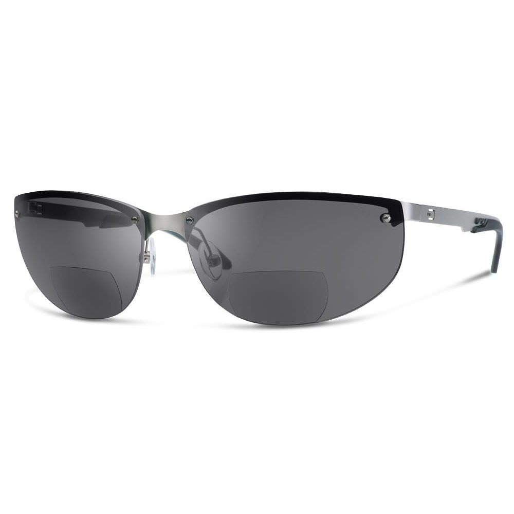 DUAL NV1 SUNGLASSES Smoke LENS WITH READERS magnification (+1,5) - Clearance