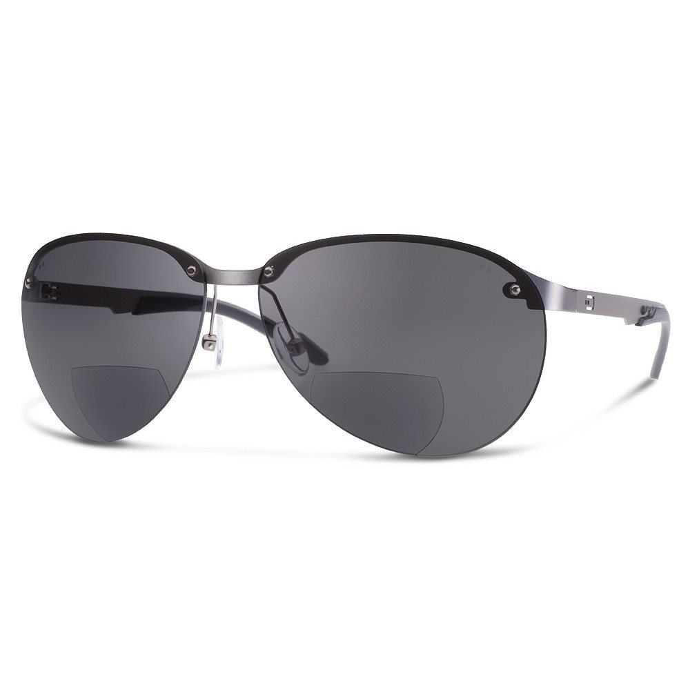 DUAL NV2 SUNGLASSES GRAY LENS WITH READERS (+1.5)