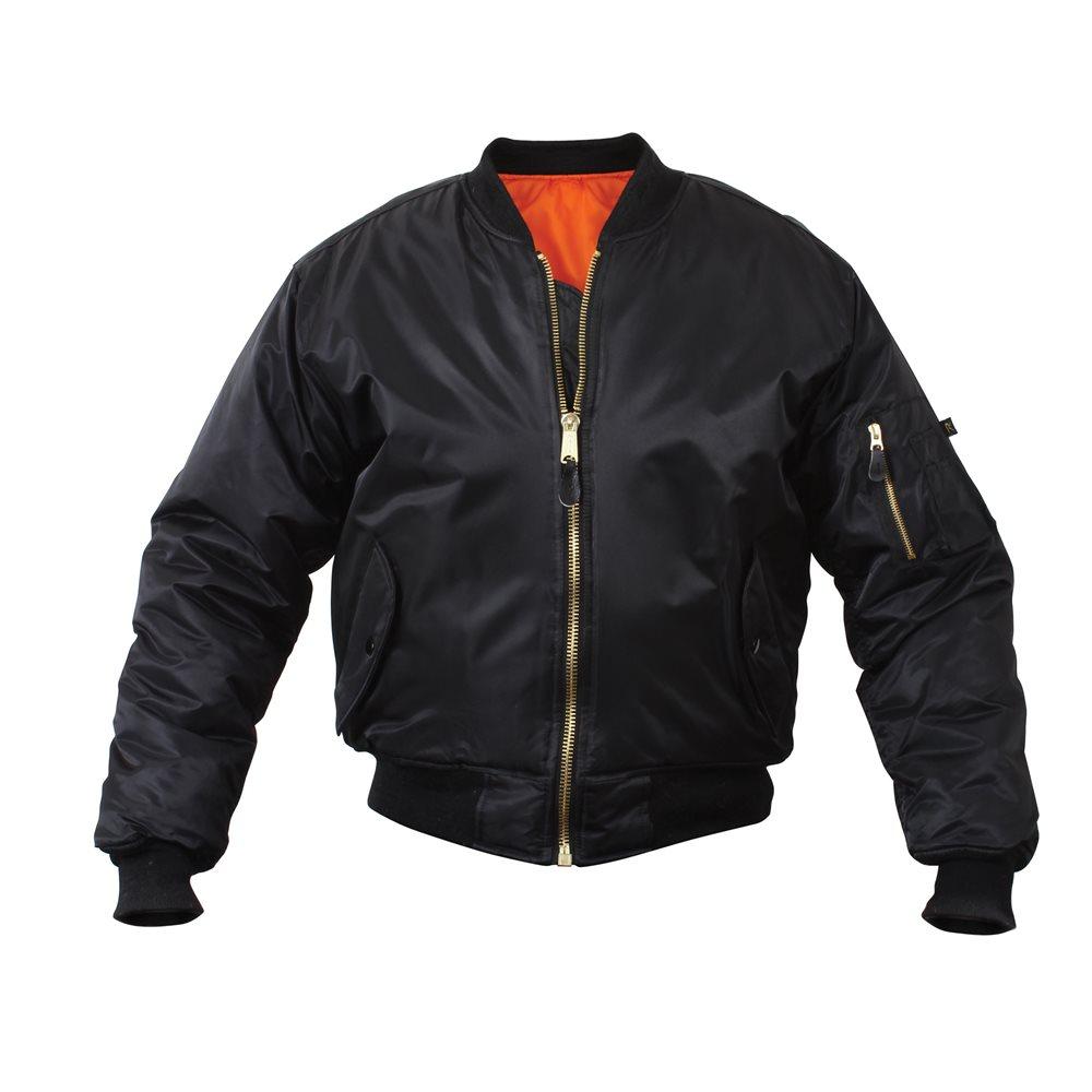 Flight Jacket Black  - Medium