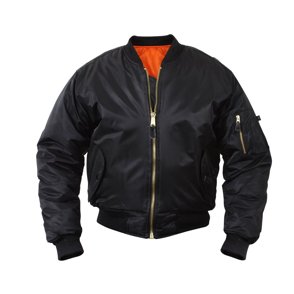 Mens MA-1 Flight Jacket Black