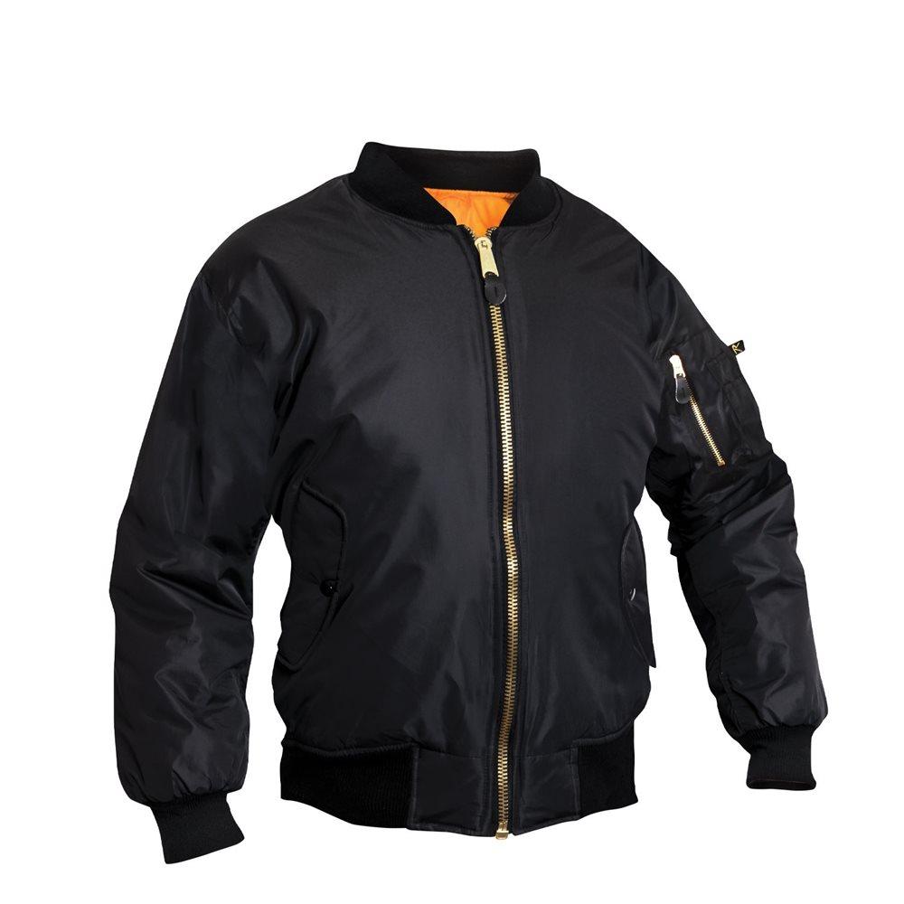 Womens MA-1 Flight Jacket Black