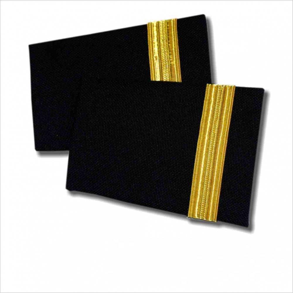 Pilot Epaulets Navy - 1 Bar Gold