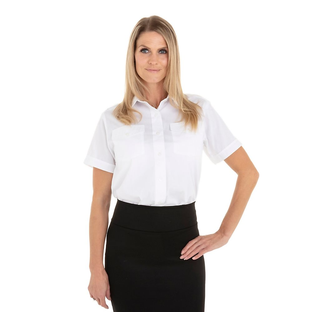 Van Heusen Women's Short Sleeve Aviator - Large